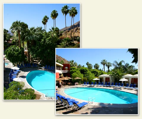 Palm Springs Tennis Club Resort Tropical Pool Area